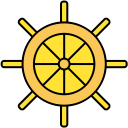 wheel, ship wheel, boat, ship icon