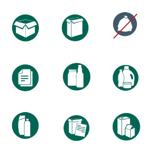 Recycling icon sets preview