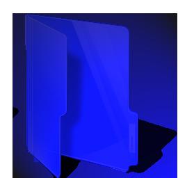 folder, blue, dark icon