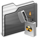 black, burnable, folder icon