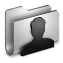 Folder, Metal, Users icon