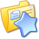 folder, favourite, yellow icon