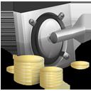 money, vault, lock, cash, yuan, safe icon