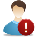 Male User Warning icon