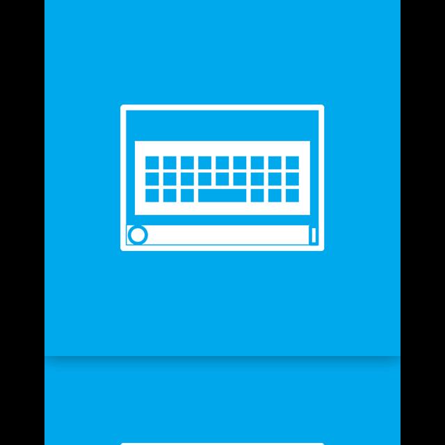 on screen, keyboard, screen, mirror icon
