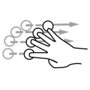 finger, flick, gestureworks, four icon