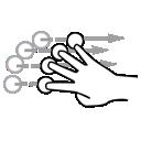 finger, flick, gestureworks, four icon