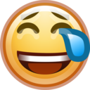face smile crying icon