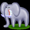 elephant,animal,cartoon icon