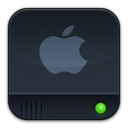 disk,dark,apple icon