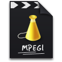 mpeg, mpg, video icon