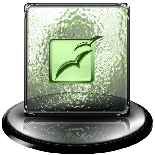 green, classic, office, open icon