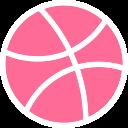 social, logo, network, brand, dribbble icon