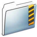 Folder, Graphite, Security, Smooth icon