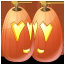 halloween, jack o lantern, pumpkin, love icon