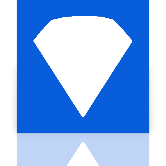 mirror, bejeweled icon
