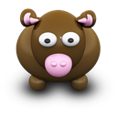 Brown, Cow icon