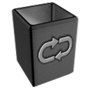 empty, blank, recycle, bin icon