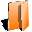 close, open, orange, folder icon