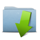 folder,blue,download icon
