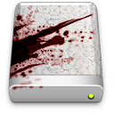 drive, splattered, blood icon