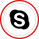 media, social, brand, logo, skype icon