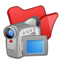 folder,red,video icon