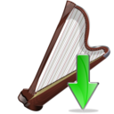 arpa,down,instrument icon