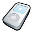 white, ipod, video, mp3 player icon