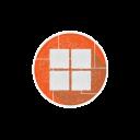 internet, windows, network, social, windows8, microsoft icon