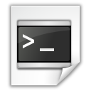 Application, Shellscript, x icon