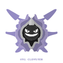 cloyster, pokemon, water, kanto icon