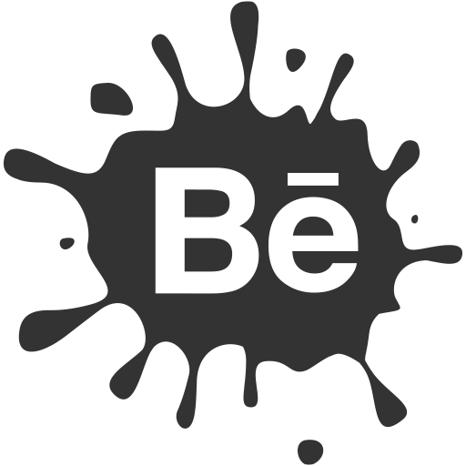 media, blot, set, social, behance icon