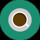 brown, green, minimal, cafe, coffee icon