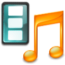 video, music, film, movie, multimedia, application icon