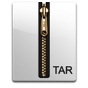 compressed, gold, file, tar icon