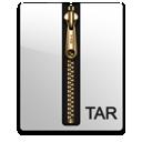 compressed, gold, file, tar icon