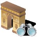arcodeltriunfo, seek, find, search icon