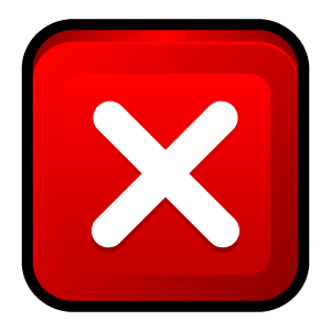 window, no, close, cancel, stop, program icon