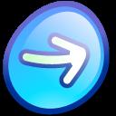 Object Rotate Forward Ok Right Yes Next Correct Arrow Icon Oxygen Refit Icon Sets Icon Ninja