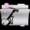 music, white, folder icon