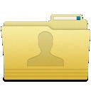 user, folder icon
