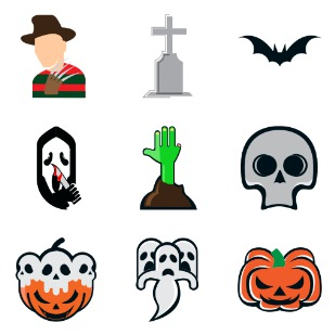 Halloween essentials icon sets preview