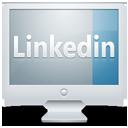 monitor, computer, social, linkedin, display, screen icon