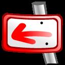 previous, prev, backward, left, back icon