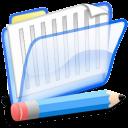 documentos, azul icon