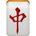 dragon, chun, mahjong icon