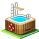 swimming, pool icon