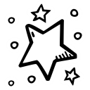 party, celebration, star, stars, new year icon