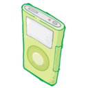 ipod,green icon